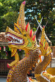Dragon guard statue at the buddhist temple entrance in Thailand — Stock Photo