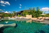 Swimming pool in the luxury spa resort — Stock Photo