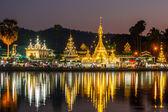 The Shan-Burmese style Wat Chong Klang and Wat Chong Kham temple — Stock Photo