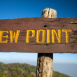 Stock Photo: Old wooden viewpoint sign