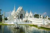 Famous Wat Rong Khun (White temple) — Stock fotografie