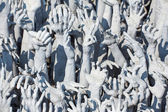 Sculptures of famous Wat Rong Khun (White temple) — Stock Photo
