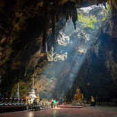 Buddhist temple in Khao Luang cave — Stock Photo