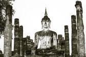 Wat Mahathat temple, Sukhothai Historical Park — Foto Stock