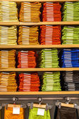 Clothing on the shelves — Foto Stock