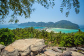 Phi-Phi island, Krabi Province, Thailand. Panorama — Stock Photo