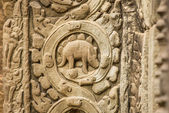 Relief on the wall   at Angkor Wat — Foto Stock