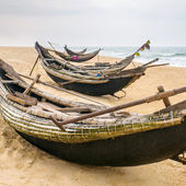 Fisherman boats on  beach — Stockfoto
