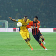 Metalist Kharkiv vs Shakhtar Donetsk football match — Stockfoto