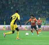 Metalist Kharkiv vs Shakhtar Donetsk football match — Stockfoto