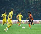 Jogo de futebol do metalist kharkiv vs shakhtar donetsk — Foto Stock