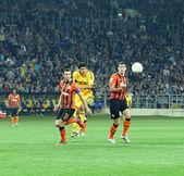 Metalist 哈尔科夫 vs shakhtar 顿涅茨克足球比赛 — 图库照片
