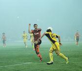 Metalist kharkiv vs shakhtar donetsk voetbalwedstrijd — Stockfoto