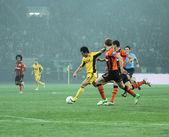 Metalist kharkiv vs shakhtar donetsk match de football — Photo