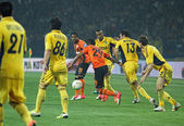 Partita di calcio metalist kharkiv vs shakhtar donetsk — Foto Stock
