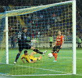 Metalist kharkiv vs shakhtar donetsk partido de fútbol — Foto de Stock