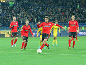 Metalist Kharkiv vs Bayer Leverkusen match — Stock Photo