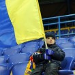 Metalist fan support their team during match — Stock Photo
