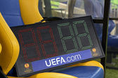 Tableau indicateur au stade metalist kharkiv — Photo