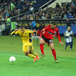 Metalist Kharkiv vs Bayer Leverkusen match — Foto de Stock
