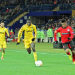 Metalist Kharkiv vs Bayer Leverkusen match - Stock Photo