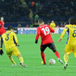 Metalist Kharkiv vs Bayer Leverkusen match — ストック写真