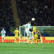 Metalist Kharkiv vs Rapid Wien football match — 图库照片