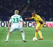 メタリスト ハリコフ対急速な wien サッカーの試合 — ストック写真