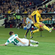 Metalist Kharkiv vs Rapid Wien football match — Stock Photo