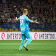 Metalist Kharkiv vs Rapid Wien football match - Stock Photo