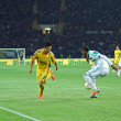 Metalist Kharkiv vs Rapid Wien football match — Foto de stock #24672843
