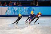 Calienta señoras de 1000 m calienta pista corta — Foto de Stock