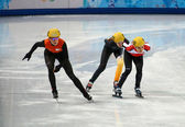 Ladies' 1000 m Heats Short Track Heats — Stock Photo