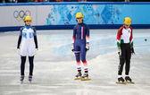 Ladies' 1000 m Heats Short Track Heats — Stock Photo