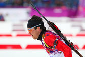 Biathlon Men's Sprint 10 km — Stock Photo