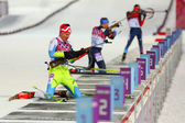 Biathlon Men's Sprint 10 km — Стоковое фото
