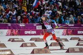 Biathlon Women's 7.5 km Sprint — Stock Photo