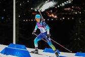 バイアスロン女子 7.5 km スプリント — ストック写真