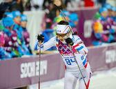Biathlon Women's 7.5 km Sprint — Stok fotoğraf