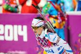 Biathlon Women's 7.5 km Sprint — Stock Photo