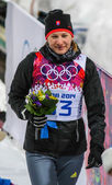 冬季两项女子 7.5 公里冲刺 (sprint — 图库照片