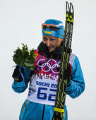 Biathlon 7,5 km sprint femminile — Foto Stock