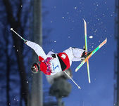 Freestyle ski herren buckelpiste finale — Stockfoto