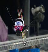 Freestyle skiing Men's Moguls Final — Stok fotoğraf