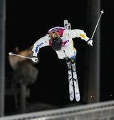 фристайл лыжный мужской финал моголов — Стоковое фото