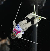 Freestyle skiing Men's Moguls Final — Foto Stock