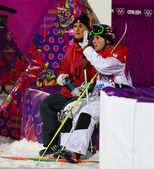 Freestyle skiing Men's Moguls Final — Стоковое фото