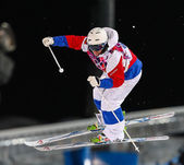 Freestyle skiing Men's Moguls Final — Foto de Stock