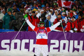 Freestyle skiing Men's Moguls Final — ストック写真