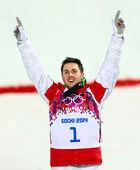 フリー スタイル スキー男子モーグル決勝 — ストック写真